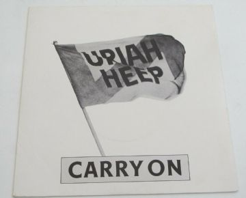 "URIAH HEEP Carry On 1980 UK 7"" P/S PROMO ROCK MINT AUDIO"